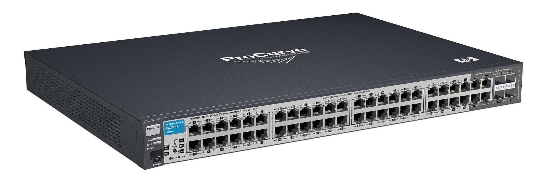 HP J9280A ProCurve 48 Port 2510 Series Switch - TechQube com