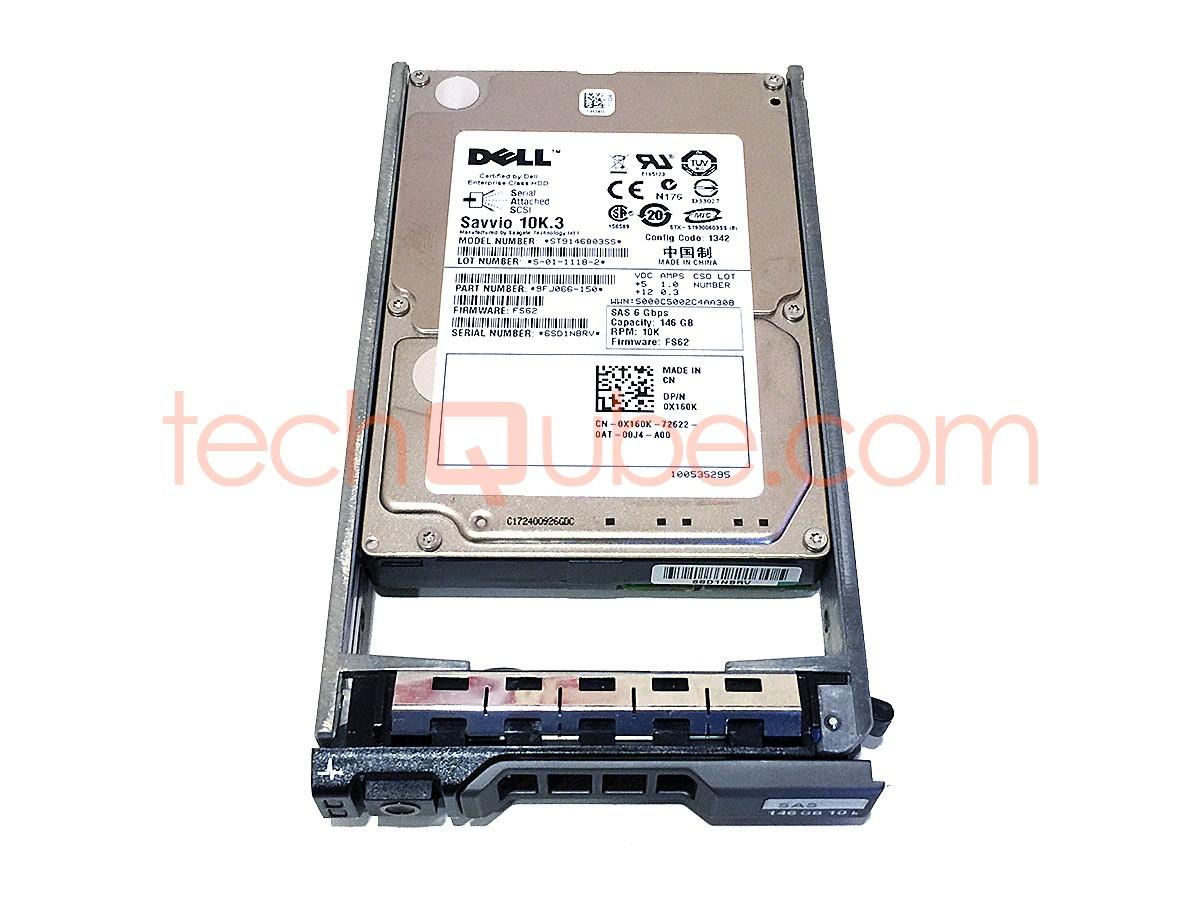 Dell 146GB 10K 2 5 3G SAS Hard Drive X160K - TechQube com