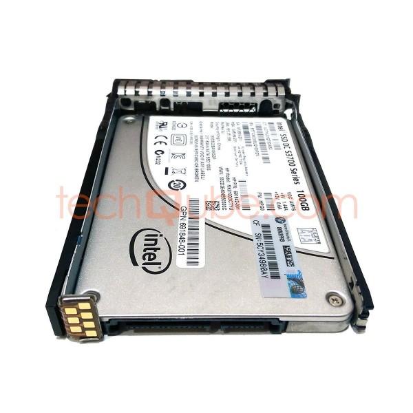 """INTEL DC S3700 100GB 2.5/"""" SATA SSD SSDSC2BA100G3P Solid State HP 691842-001"""